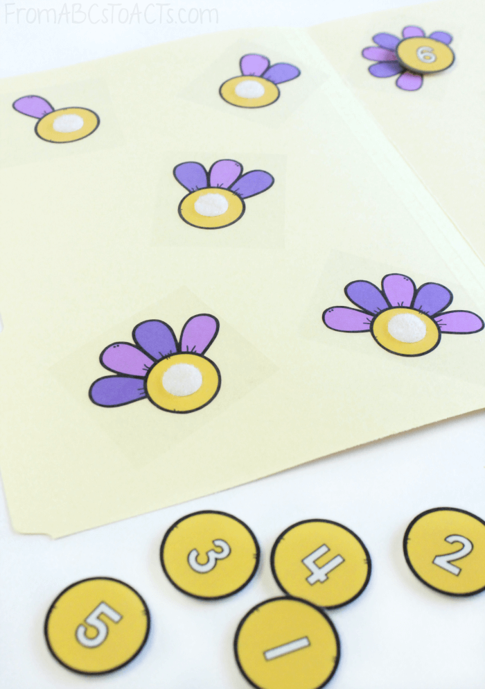 Counting with Flowers for Preschoolers