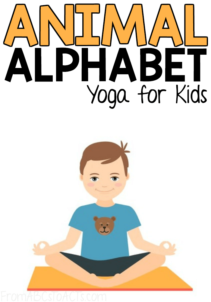 It is an image of Printable Yoga Poses for Preschoolers with alphabet