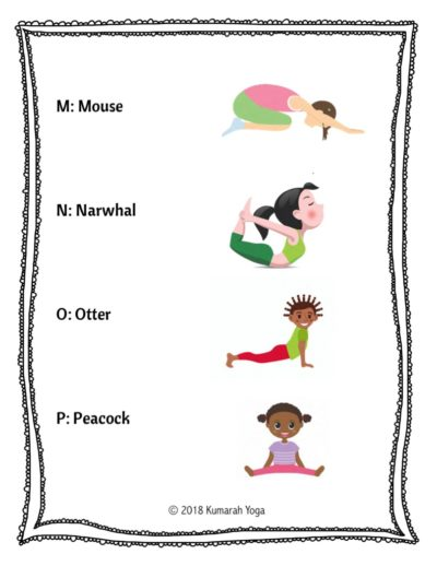 Animal Abc Yoga For Kids From Abcs To Acts