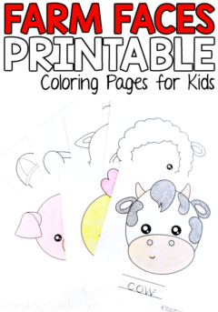 Spring is officially in the air and that makes this the perfect time of year to put together a farm theme unit and these adorable farm animal coloring pages are the perfect place to start! #FromABCsToACTs #coloringpages #farmanimals