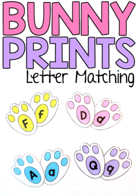 Whether you're gearing up for Easter or getting ready to celebrate Spring, this adorable bunny print letter matching activity would make the perfect literacy center for your kindergartners!