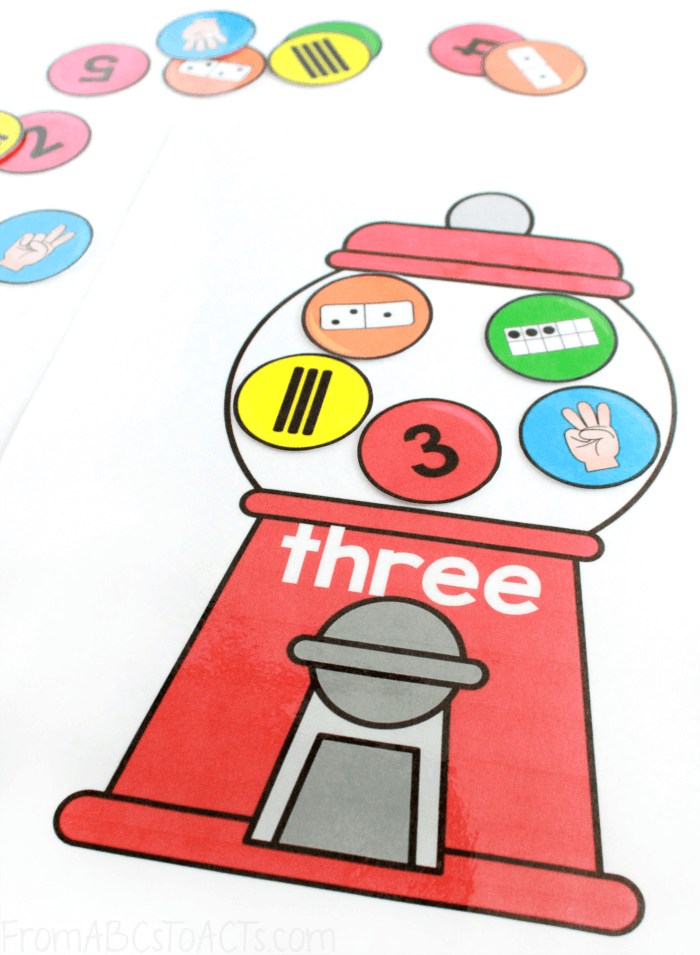 Printable Gumball Number Sense Activity