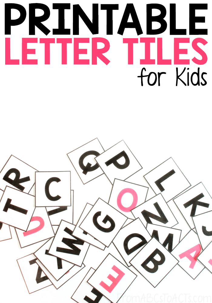 photograph relating to Printable Letters identify Printable Alphabet Letter Tiles Versus ABCs in the direction of Functions