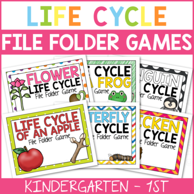 Life Cycle File Folder Games for Kids