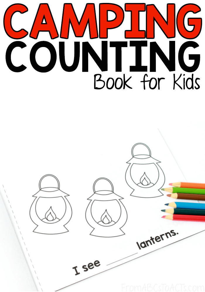 Before your next family camping trip, grab this free printable camping counting book that works on numbers 1-10 to get your toddler or preschooler excited about going!