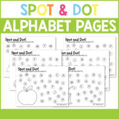 Work on letter recognition, colors, fine motor skills, beginning sounds, and more with these fun Spot & Dot Alphabet pages for preschoolers and kindergartners!