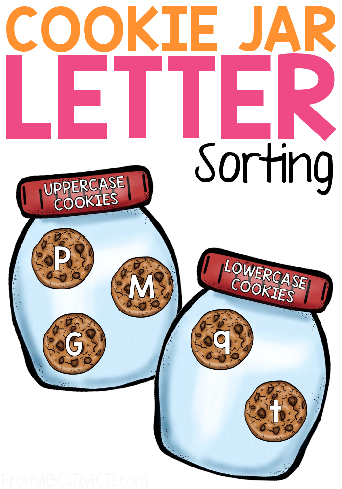"""Reading """"If You Give a Mouse a Cookie"""" with your preschooler? This sweet letter sorting activity is the perfect way to cap off the story! #FromABCsToACTs"""
