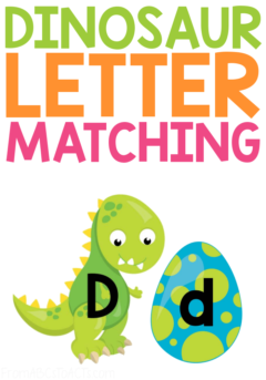 Is your preschooler or kindergartner obsessed with dinosaurs? If so, they're going to LOVE this dinosaur letter matching activity!