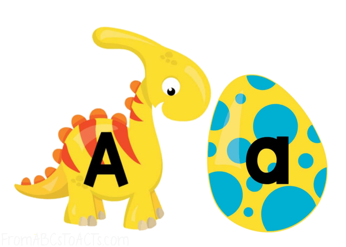 Letter Matching Dinosaurs