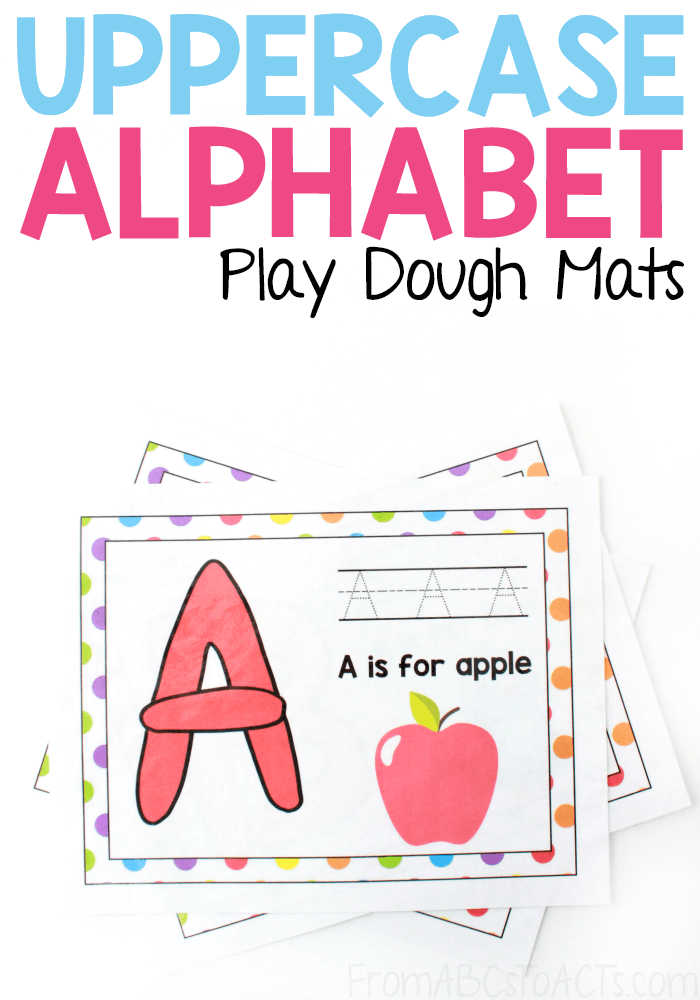 Combine your child's love of play dough with the uppercase letters of the alphabet for fine motor learning that's tons of fun!