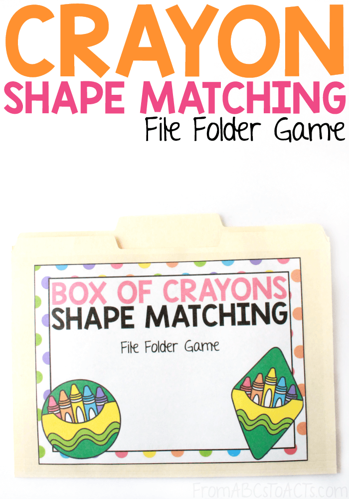Practice those early math skills while matching crayon shapes with this fun file folder game that is perfect for toddlers and preschoolers!