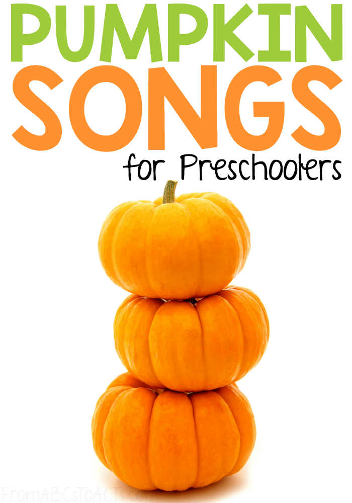 Halloween may be over, but that doesn't mean that it's time to put the pumpkins away!  Keep the fall themed learning going all season long with these fun pumpkin songs for preschoolers!  #FromABCsToACTs