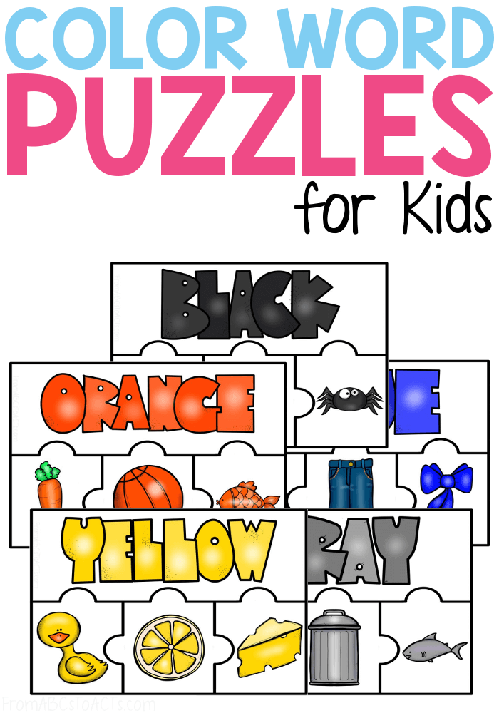 Printable Color Puzzles - From ABCs To ACTs