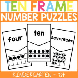 Ten Frame Number Puzzles for Kids