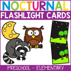 Nocturnal Animal Flashlight Cards
