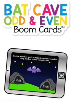 Planning for Halloween? These bat themed Boom Cards™ are a fantastic way to practice odd and even numbers to 20! #FromABCsToACTs
