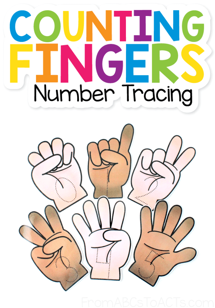 Teaching your child to count or write their numbers? These printable counting finger tracing cards are the perfect way to do both while also working on pencil grasp and fine motor skills! #FromABCsToACTs