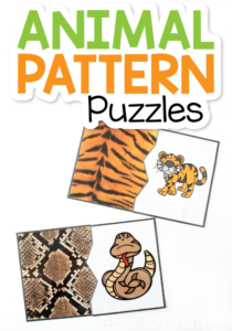 Are your kids obsessed with animals? Well, then they're going to love these animal pattern puzzles! They're perfect for preschoolers and kindergartners and a fantastic add-on to your science lesson! #FromABCsToACTs