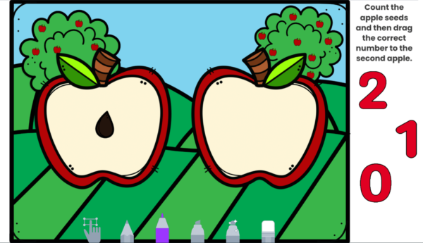 Apple Seed Counting Seesaw