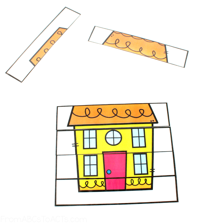 Six Piece House Puzzles for Kids
