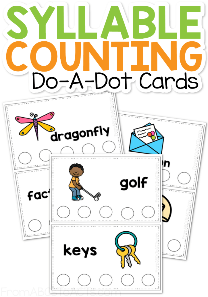 Syllable Counting Dot Cards 1