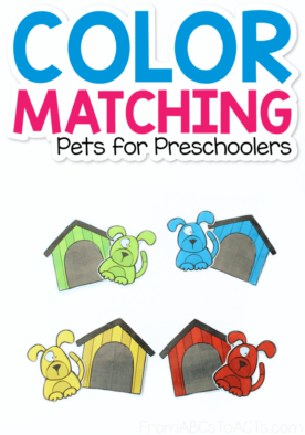 Printable Dog House Color Matching Activity for Toddlers